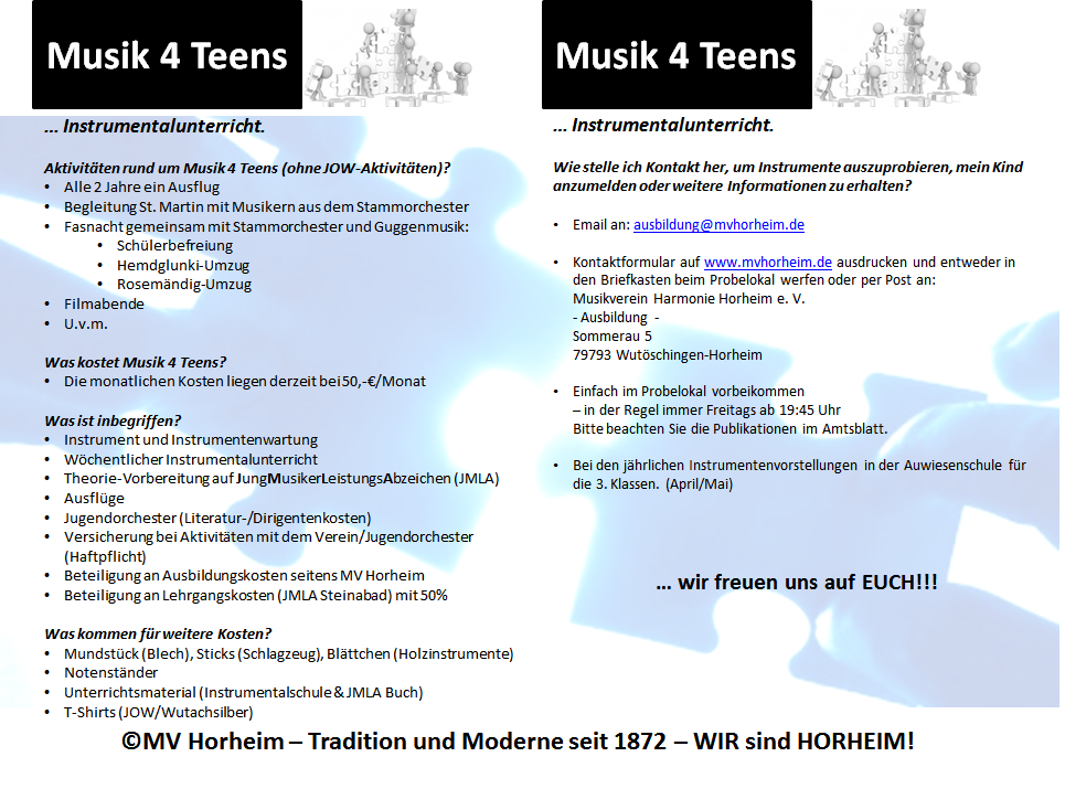 Informationen darber, wie verschiedene Arten von Musik